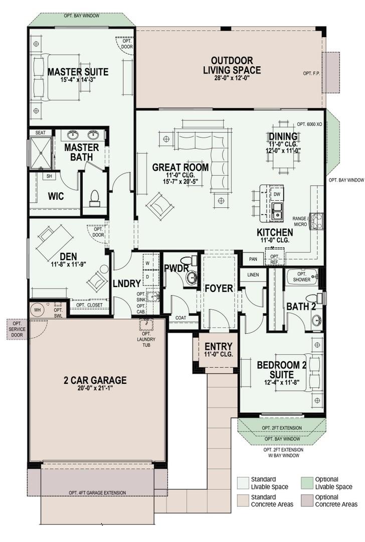 Agave Model Floor Plan