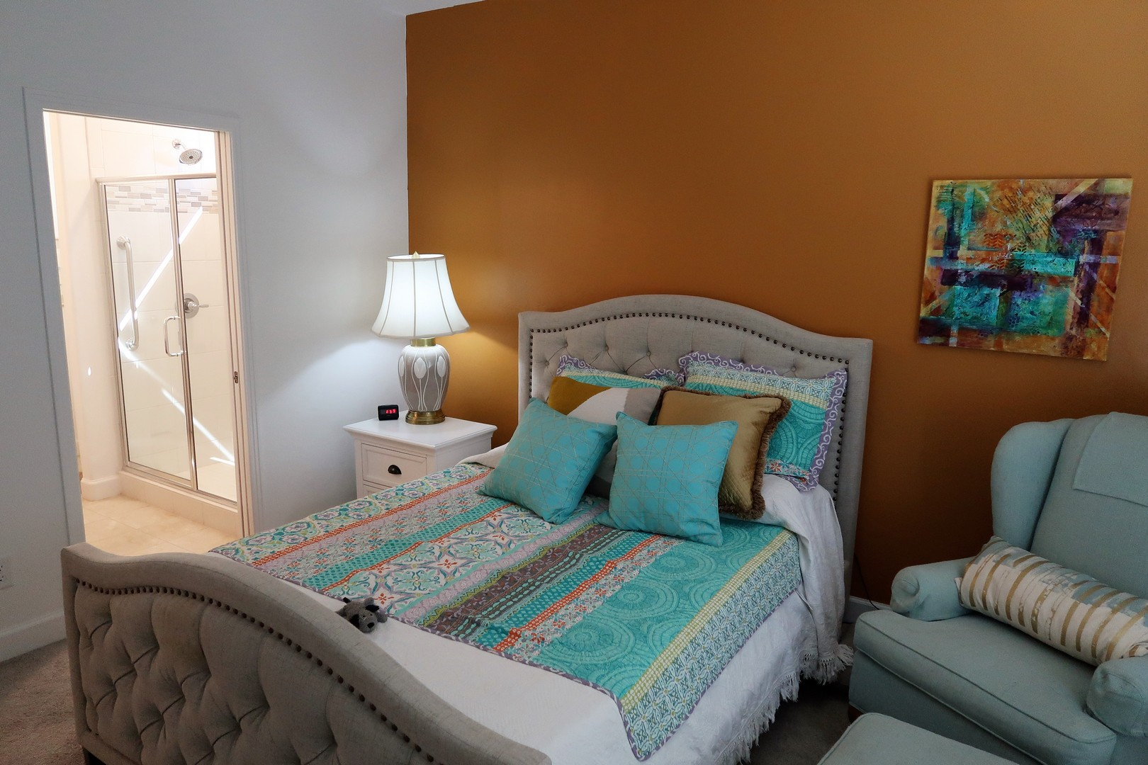 Master Suite - wall has been painted white