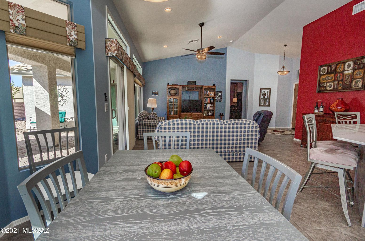Dining area to great room